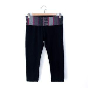 Lululemon Striped Band Black Crop Capri Leggings